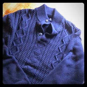 Navy Blue chaps sweater